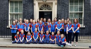Guides at 10 Downing Street
