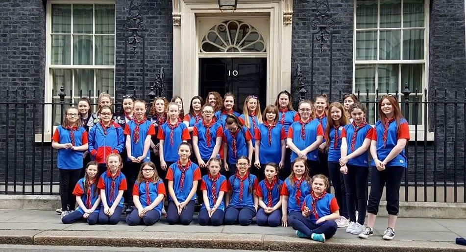 Guides at 10 Downing Street