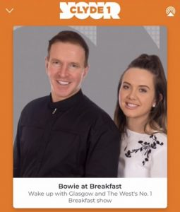 Clyde 1 Hosts George Bowie and Cassi Gillespie