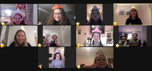 Brownies and Leaders meeting on zoom