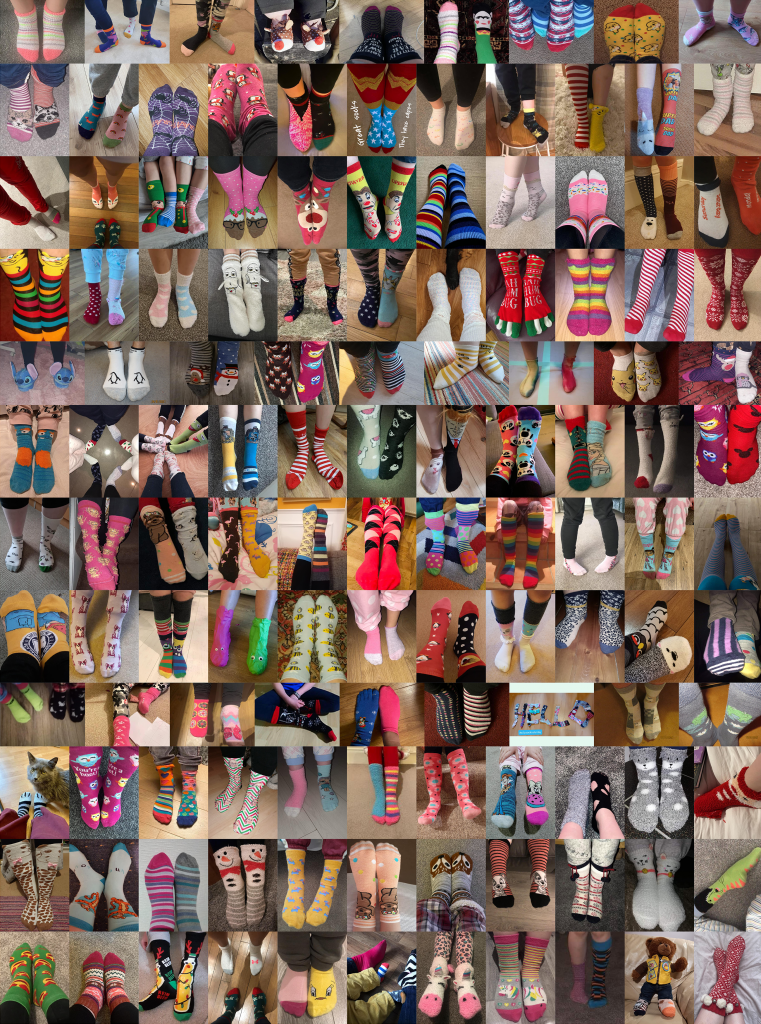 Collage of socks