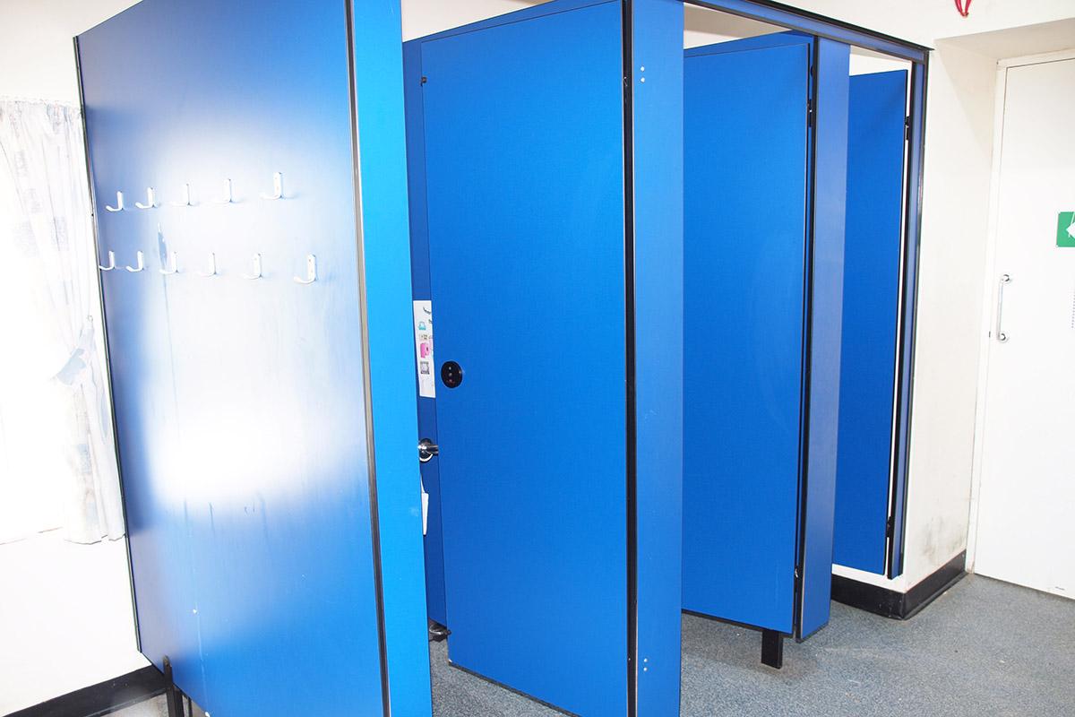 Three WC cubicles